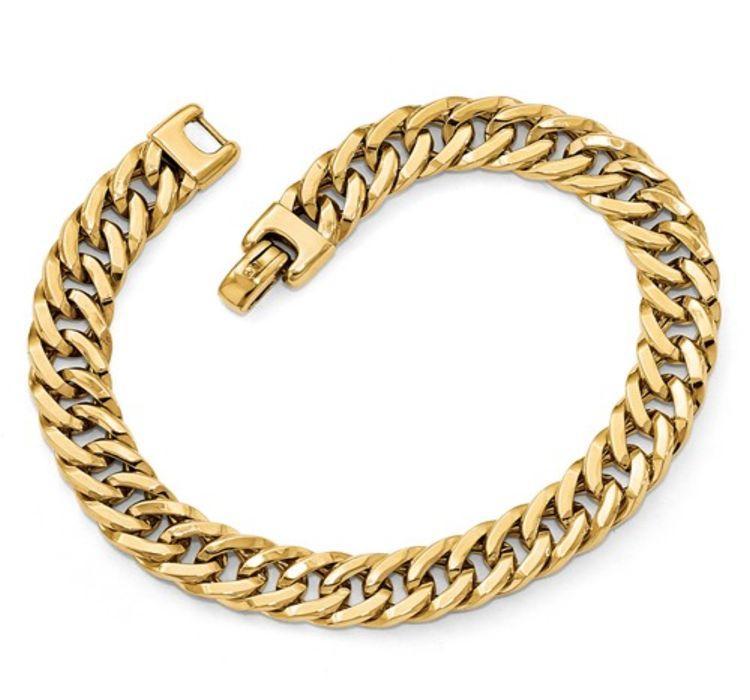 donelson jewelry bracelets 9mm 14k yg mens bracelet